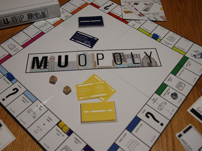 MUopoly FINAL illustrations wisconsin milwaukee board game illustration marquette marquette university monopoly