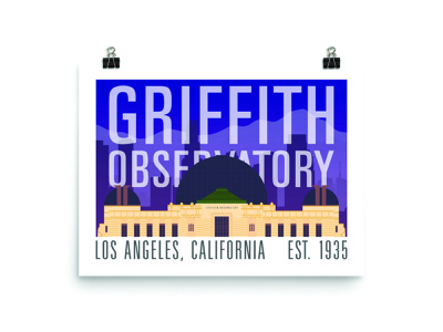 Griffith Observatory griffith los angeles la vector illustration