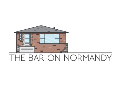 The Bar On Normandy architecture illustration logo beer