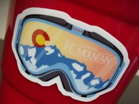 Skiing Stickers - solo cups!