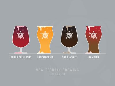 New Terrain Beer brewery new terrain vector