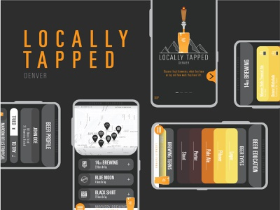 Locally Tapped Screens user experience app beer vector illustration vector