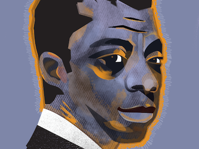 James Baldwin portrait art illustrations
