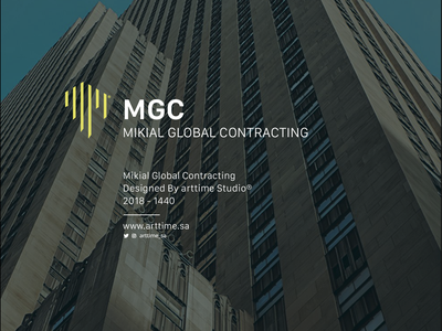 MIKIAL GLOBAL CONTRACTING branding brands brand identity logo