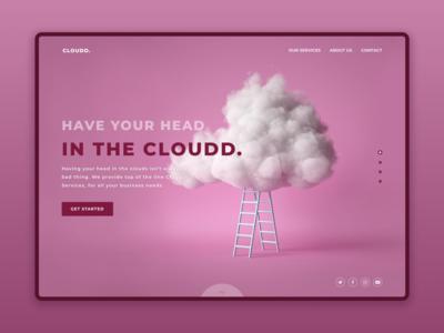 Cloudd landing page
