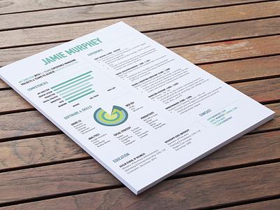 Jamie Murphey Resume resume design