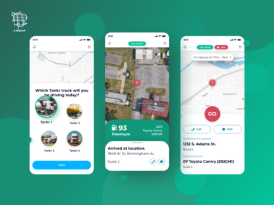 Tankr - Driver's App mobile application user experience react native app ui mobile app design mobile app design ux airship