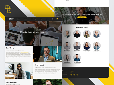 Grow - About Us Page webdesign web design website church product design branding user experience ui design ux airship