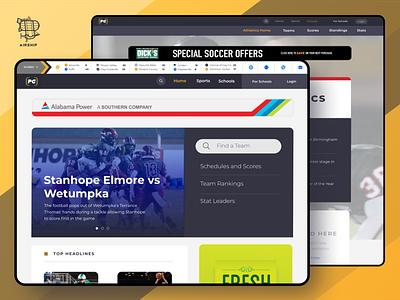 Pure Game Desktop View athletics athlete football sports user experience ui design ux airship