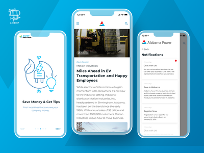 Smart Partner 2 illustration application design react native mobile app app user experience ui design ux airship