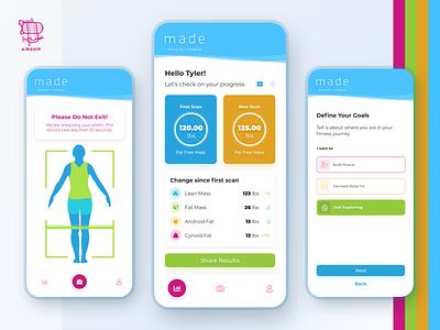 Made Health & Fitness - Mobile App application design app design react native mobile app app user experience ui design ux airship
