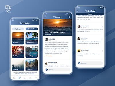 Buddys Mobile App application design branding react native design react native app user experience ui design ux airship