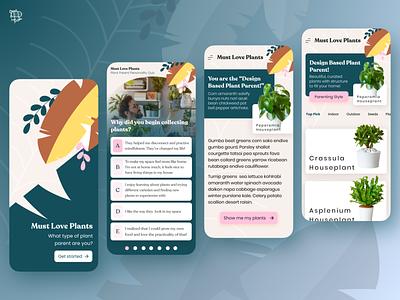 Must Love Plants - Plant Parenting App natural green plant nature plants mobile app user experience ui design ux airship