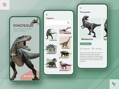 Dinosaur Exploration App app design mobile app mobile application pastels organic shapes app user experience ux ui design airship