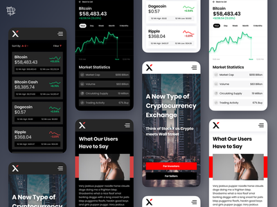 StockX Cryptocurrency Market mobile design react native design mobile application mobile app app user experience ui design ux bank money crypto