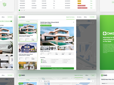 OMG: Off Market Group real estate app real estate home house sale for sale housing house app user experience ui design airship ux