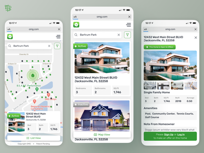Off Market Group Mobile real estate purchase buying house real estate housing ui design airship ux