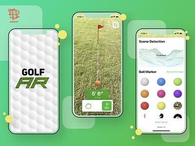 GolfAR augmented reality app design airship