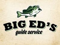 Gorilla76 Big Eds Guide Service logo branding fishing outdoors identity