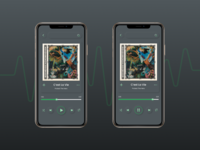 Spotify in Neumorphic mode