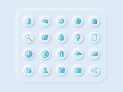 3D Icon pack branding design figma 2020 design 2020 trends icon design icon set ux ui inspiration ux design ui design uiux ui 3d neumorphic neumorphism neumorph icon