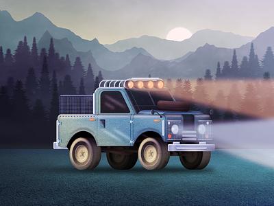 Adventure Car vector design portfolio digital painting illustration figma adventure