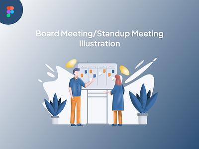Standup Meeting Illustration people standup meeting illustration meeting