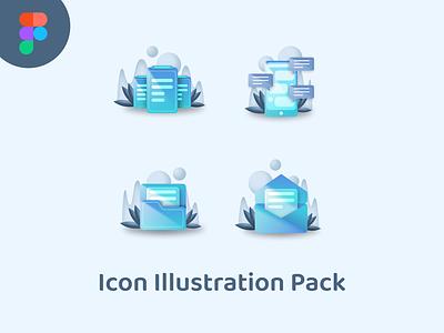 Icon Illustration Pack mobile app ui kits illustration