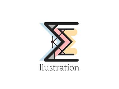 E_llustration Logo identity icon typography branding logo vector 2d flat design sketchapp design portfolio illustration