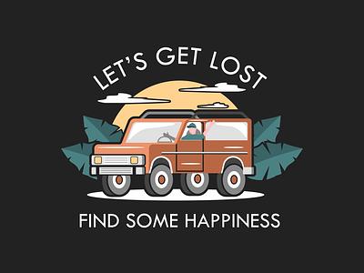 Let's get lost figma car branding animation vector 2d flat design sketchapp design portfolio illustration