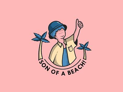 Son of a beach! beach boy travelwear sketch figma flatdesign apparel tshirt illustration brand
