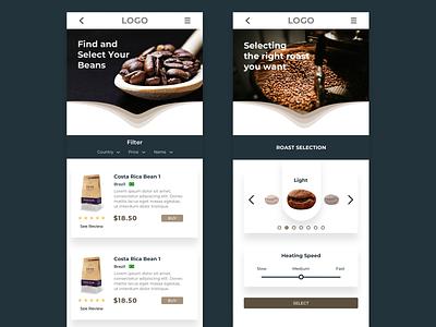 Coffee Beans App ux sketchapp figma portfolio design coffee shop mobile ui app coffee