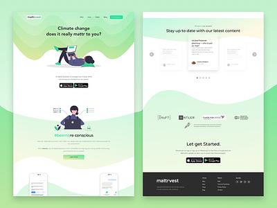 Mattrvest landing page website design website ux ui branding figma vector design sketchapp portfolio