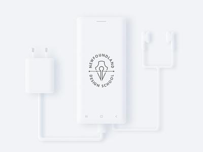 Skeumorphic Mobile Device mobile device illustration portfolio 2020 trend white design trend mockup figma neumorphic neumorphism skeumorphic skeumorphism skeuomorph design