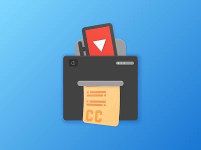For CCExtractor Development - My GCI Org <3 logodesign logo sendinvitelol firstpost design illustrator googlecodein