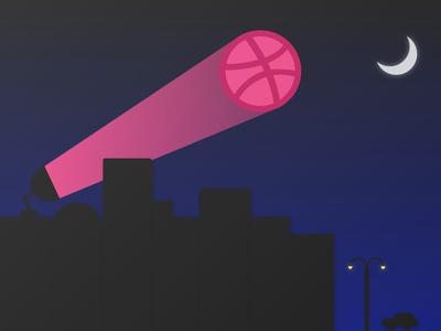 Need a designer? Switch the Sigggnal on! batman night debut dribbble illustration