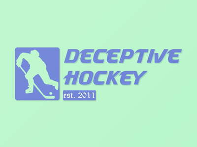 Logo for Deceptive Hockey IG instagram logo design hockey