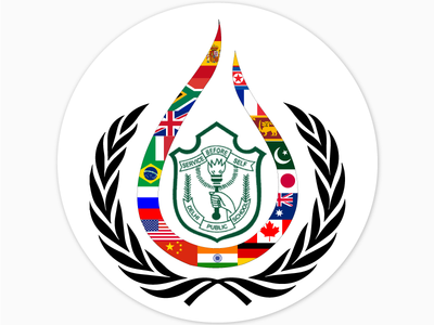 Badges for DPSKMUN! logo design sticker model un