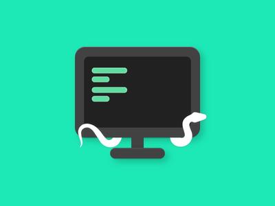 Logo for Python Project <3 swag tech python design illustration logo