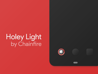 Holey Light by Chainfire material design material mockup iconography chainfire