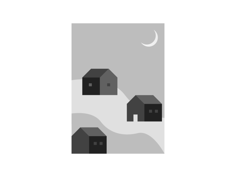 5ish Shades of Grey print minimal design home houses material grayscale illustration