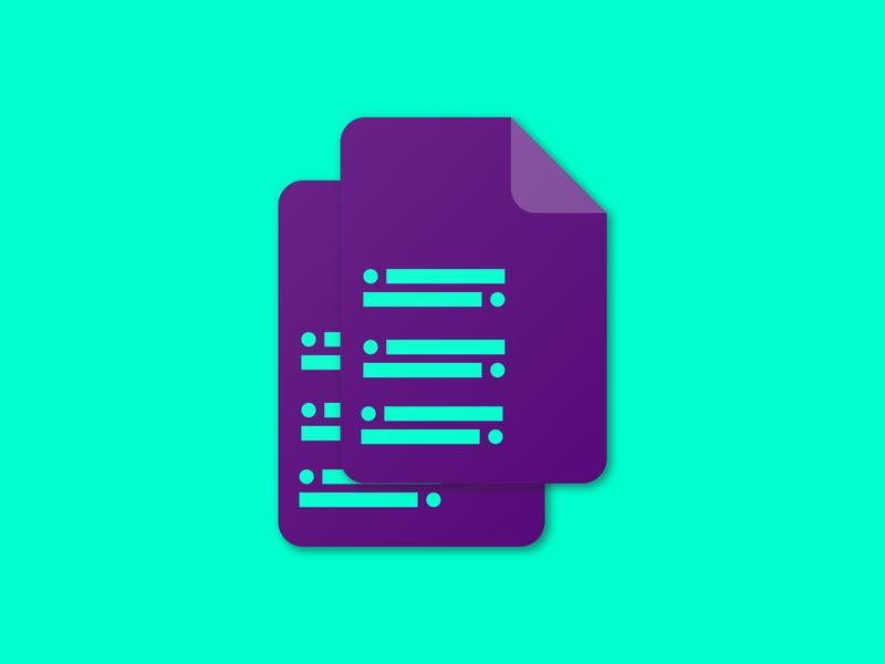 Tor Docs Hackathon ✨ cyan purple minimal hackathon document tor material design iconography design illustration
