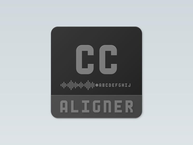 CCAligner typogaphy sync tech icons iconography github material karaoke subtitles product icon icon