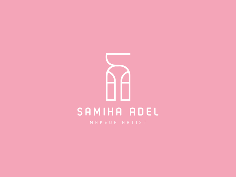 Samiha Adel Logo illustration logotype design logo typography branding mousastudio brand identity amritect