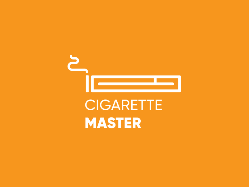 Cigarette Master Logo typography illustration logotype logo design branding brand identity mousastudio amritect