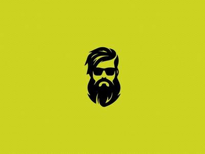 Beard Logo Icon for barbar shop
