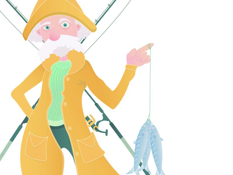 Fisherman illustration fisherman
