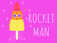 Rocket Man lolly zoom rocket lolly ice lolly