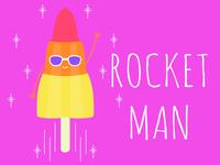 Rocket Man lolly zoom rocket lolly ice lolly