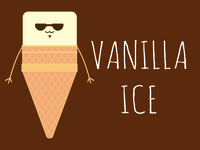 Vanilla Ice Cream ice cream illustration vanilla ice cream